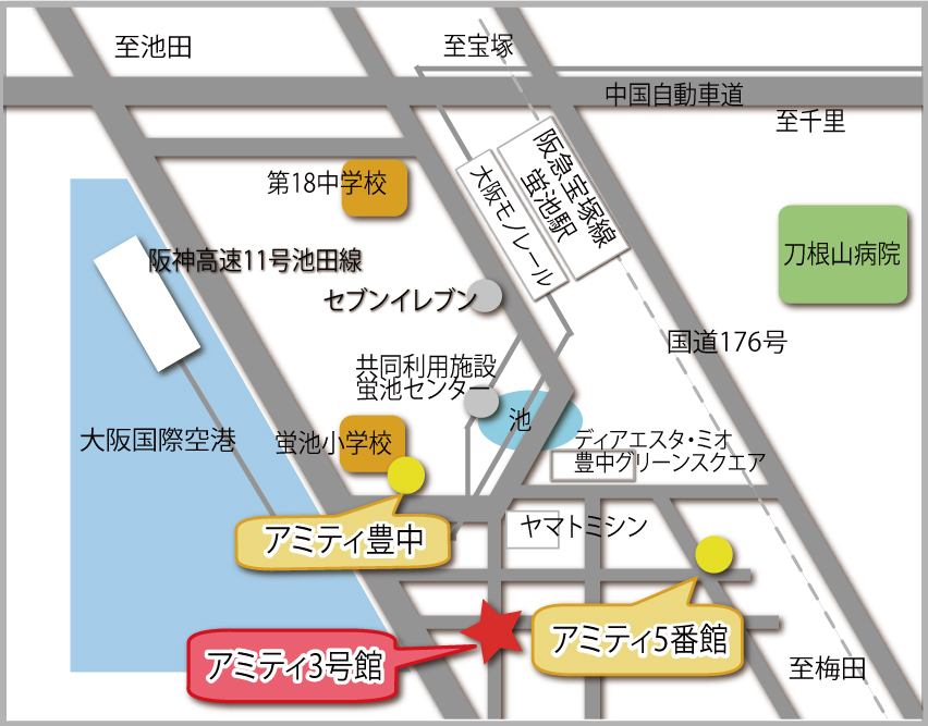 アミティ3号館マップ